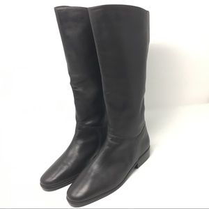 St. John's Bay Brown Leather Knee Boots Size 9 c14